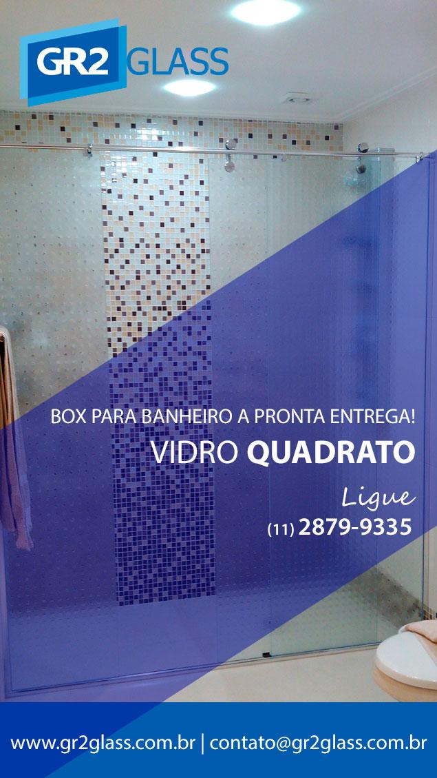box de vidro quadrato para banheiro