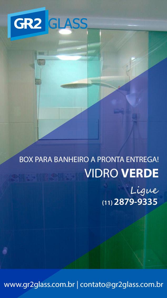 Box de Vidro Verde