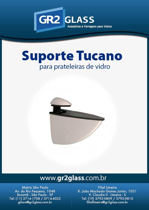 Suporte Tucano para Prateleiras de Vidro