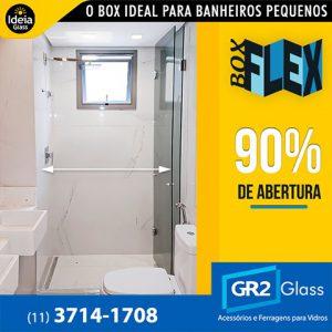 Box Flex ideal para banheiros pequenos