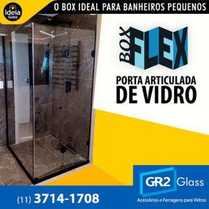 Box Flex porta articulada de vidro
