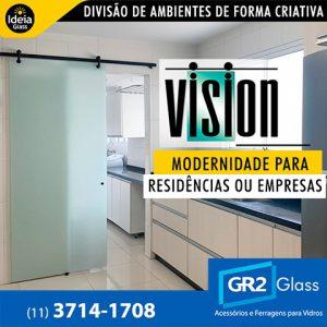 Porta Vision divisão de ambientes de forma criativa