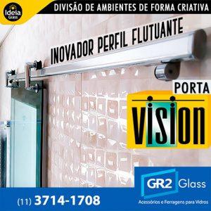 Porta Vision inovador perfil flutuante